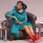 Dina Pule's red-soled shoes