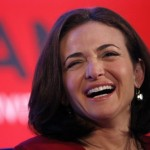 Facebook COO Sandberg laughs at the Iab Mixx Conference and Expo in New York