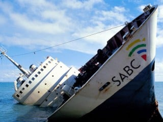 SABC sinking stricken ship