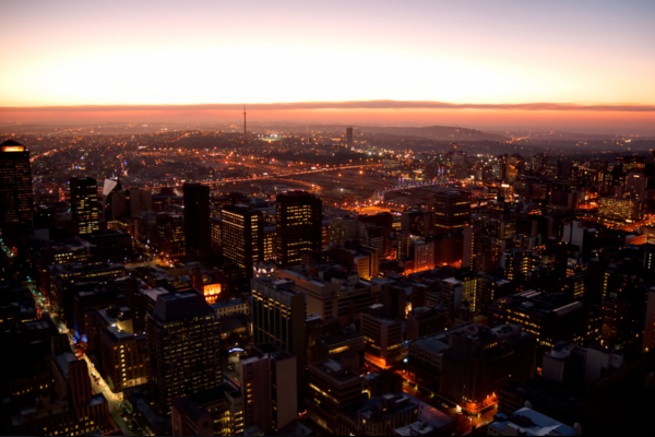 Johannesburg at Sunset