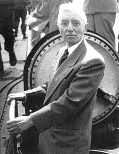 Rear Admiral Rickover inspecting the USS Nautilus. United States Navy