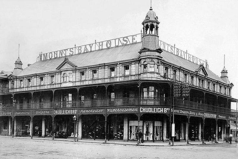 Mounts Bay Hotel, Pritchard Street in 1909
