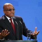 Jacob Zuma speaking in Germany