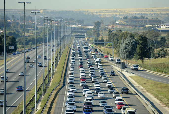 This is when you're allowed to drive in the emergency lane in South Africa