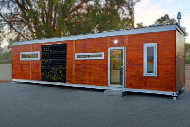 A look inside a R400,000 South African container home Tiny Mobile Home Polystyrene on 1000 sq ft. small homes, 400 sq ft. small homes, tiny key west homes, busses from tiny homes, tiny pueblo homes, mini custom homes, pod homes,