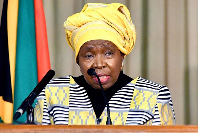 Nkosazana Dlamini Zuma South African Minister of Cooperative Governance and Traditional Affairs